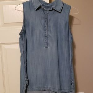 TALBOTS sleeveless denim shirt